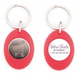 Porte-clés jeton couleur