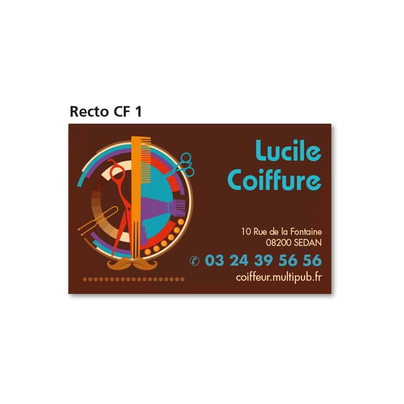Carte commerciale recto CF 1