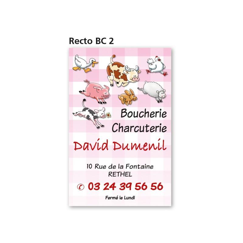 Carte commerciale Recto/Verso BC 2