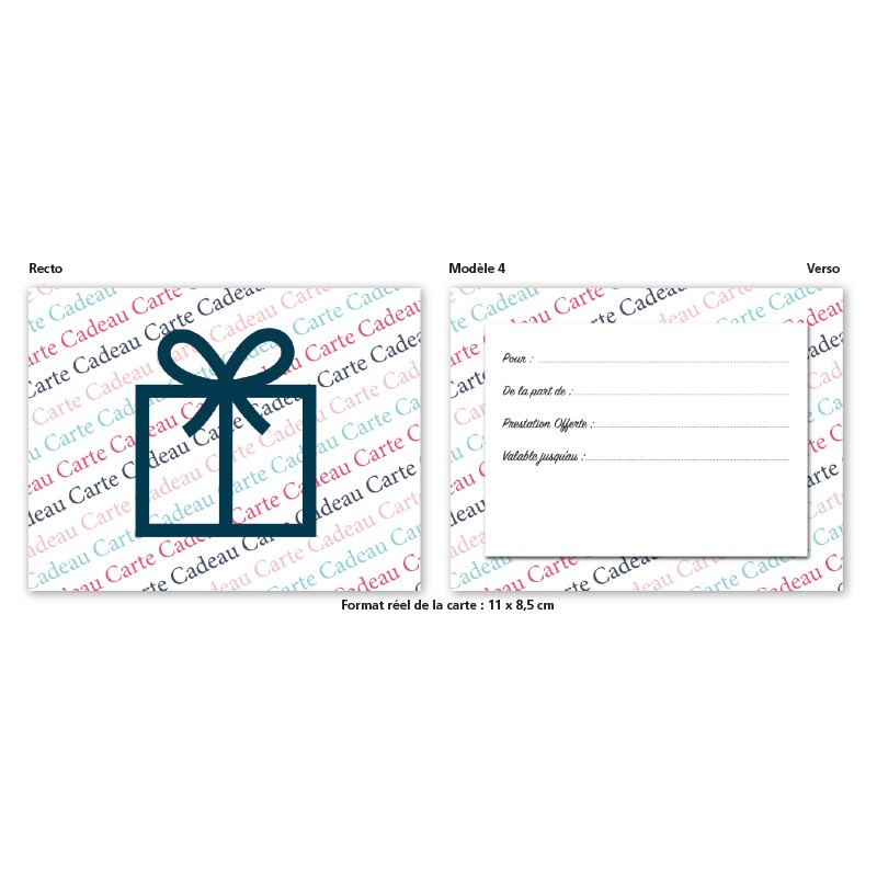 Carte Cadeau modèle 4