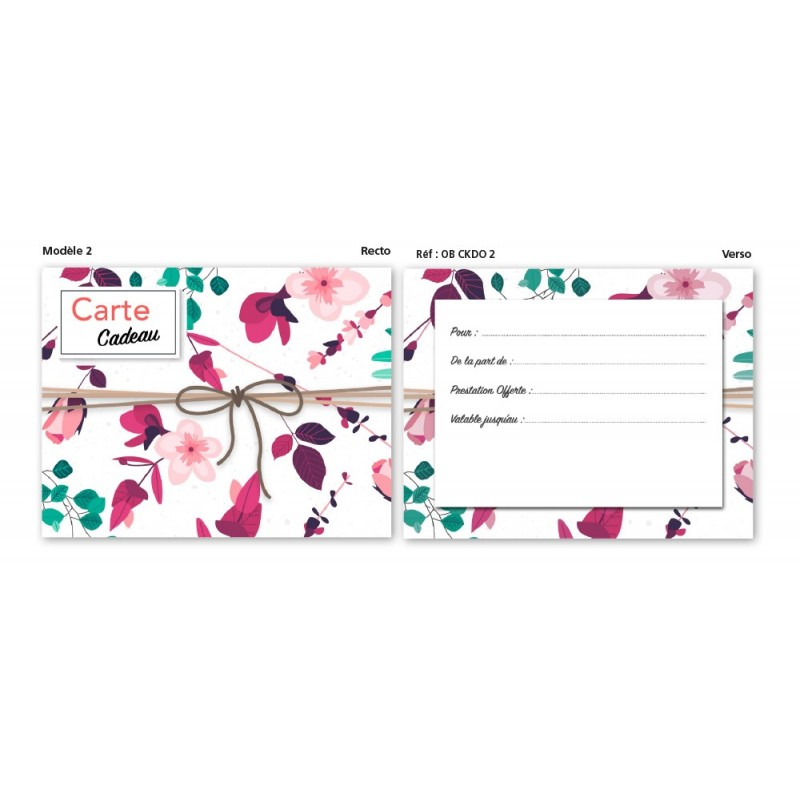 Carte Cadeau modèle 2