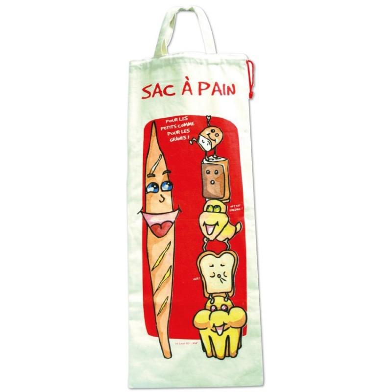 Sac à pain humoristique modèle rouge personnalisable