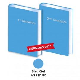 Lot de 2 Agendas Semestriels 2020 Bleu
